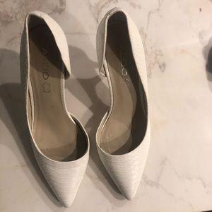White Snakeskin ALDO heels